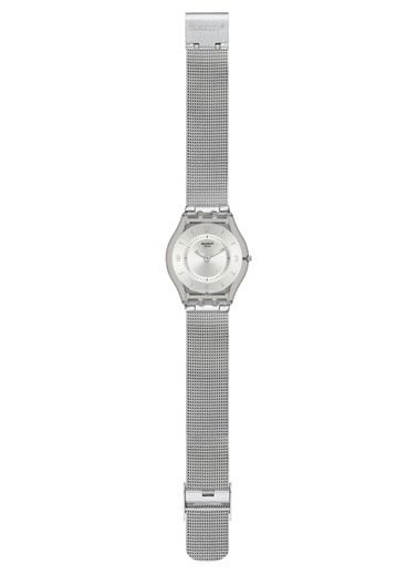 Swatch SFM118M İnce Hasır Kordonlu Bayan Saati Gri